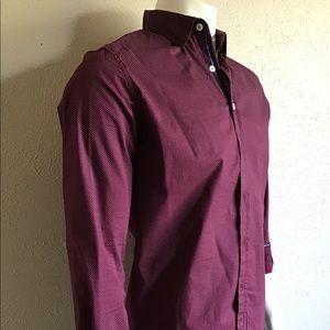 Slim fit Burgundy shirt